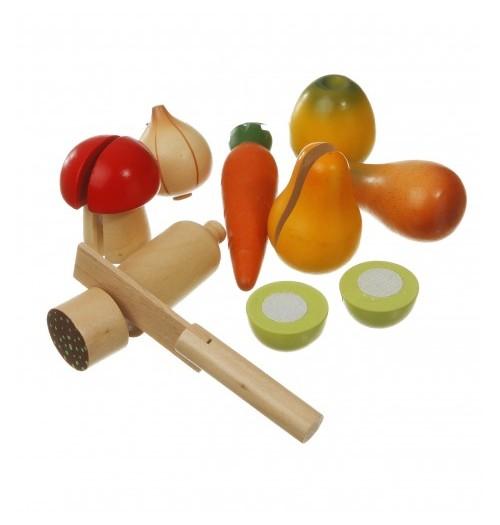 Leseni set živil za rezanje (sadje in zelenjava)