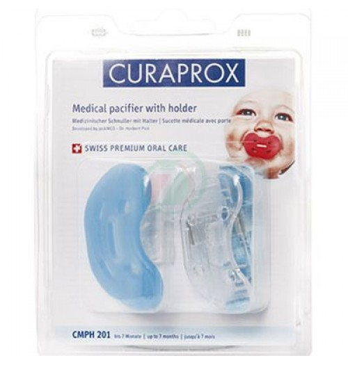 Ortopedska otroška duda s trakom Curaprox CMPH 201