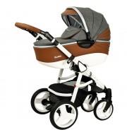 Otroški voziček CoTo Baby Quara 3v1 - eko siv