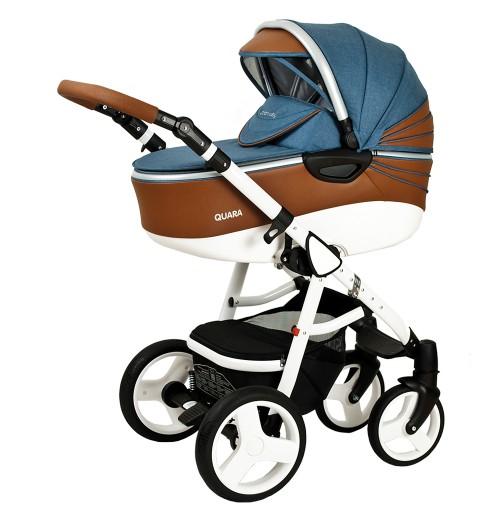 Otroški voziček CoTo Baby Quara 3v1 - eko jeans