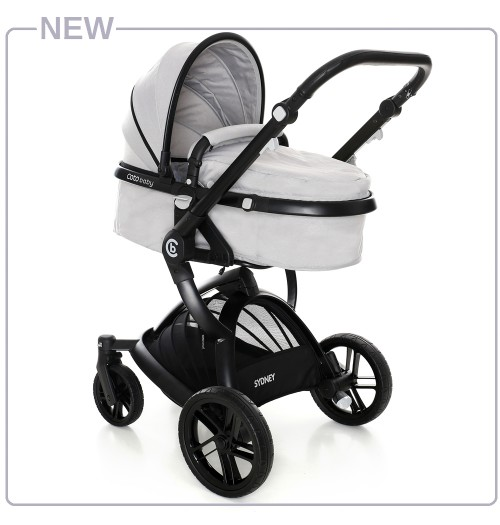 Otroški voziček CoTo Baby Sydney 2v1 light grey
