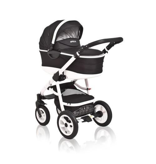 Otroški voziček CoTo Baby Aprilia 3v1 - črn