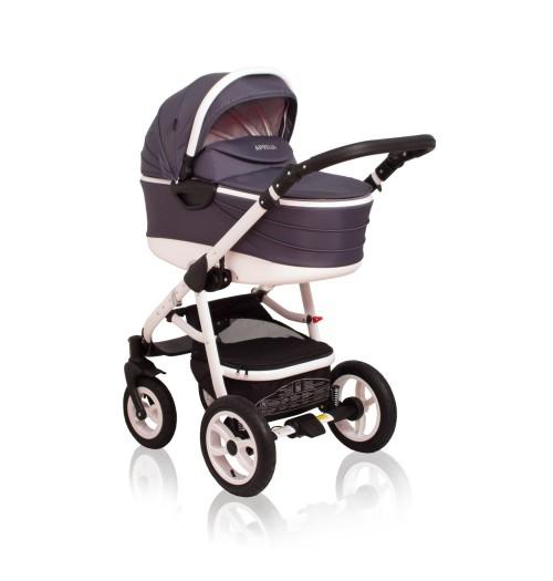 Otroški voziček CoTo Baby Aprilia 3v1 - temno siv