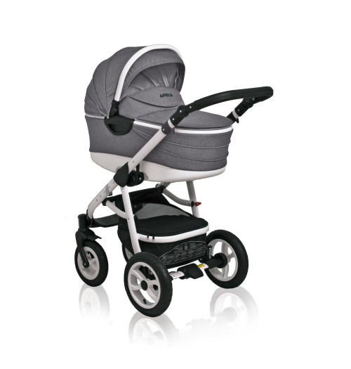 Otroški voziček CoTo Baby Aprilia 3v1 - len siv