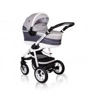 Otroški voziček CoTo Baby Aprilia 3v1 - vzorčasto svetlo siv
