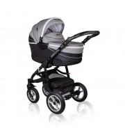 Otroški voziček CoTo Baby Aprilia 3v1 - vzorčasto temno siv