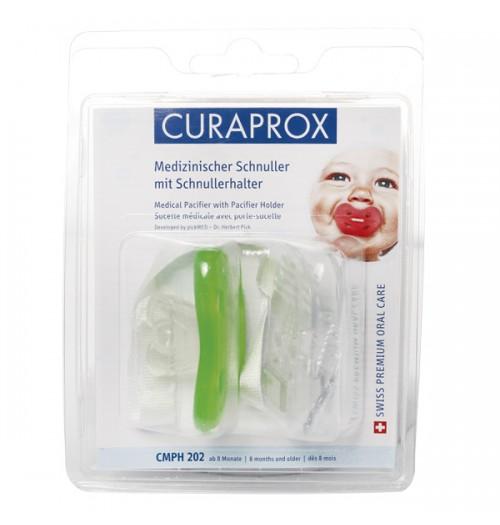 Ortopedska otroška duda s trakom Curaprox CMPH 202