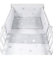 Posteljnina za otroško posteljico AlberoMio čarobne zvezdice (5 delna)