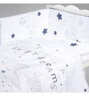 Posteljnina za otroško posteljico AlberoMio moja modra zvezda (5 delna)
