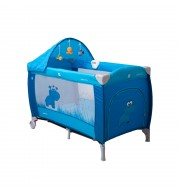 Prenosna otroška posteljica CoTo Baby SAMBA LUX - modra