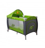 Prenosna otroška posteljica CoTo Baby SAMBA LUX - zelena