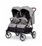 Otroški voziček za dvojčke EasyGO Domino grey fox