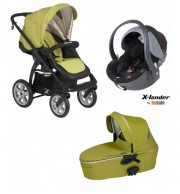 Otroški voziček X-Lander X-Move 3v1 (zelen)