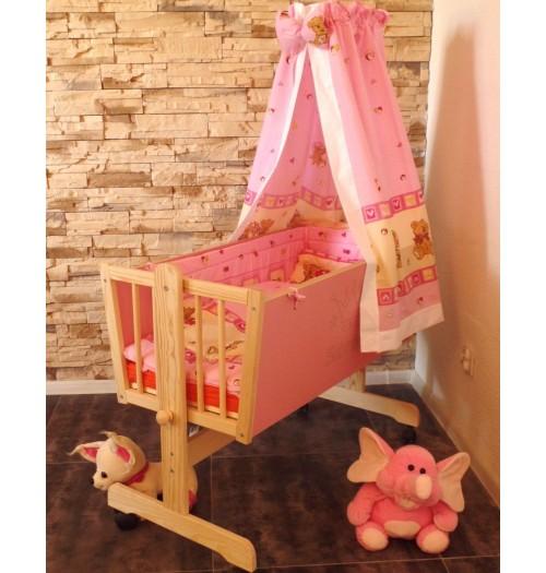 Otroška zibelka Babywiege princesa roza