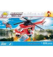 Gasilski helikopter, 300 kock za sestavljanje, COBI
