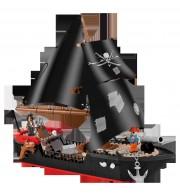 Gusarska ladja, 320 kock za sestavljanje, COBI
