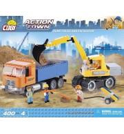 Buldožer in tovornjak, 400 kock za sestavljanje, COBI