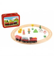 Železnica – vlakec in dodatki (v kovčku)