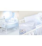 Posteljnina za otroško posteljico Klupś Speči Medvedek Modra - (6 delna)