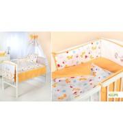 Posteljnina za otroško posteljico Klupś  Mala Hiška (6 delna)