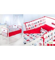 Posteljnina za otroško posteljico Klupś Avtomobili (6 delna)