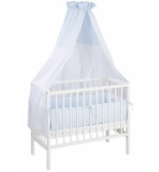 Obposteljna otroška posteljica Klupś Piccolo (belo-modra)