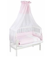 Obposteljna otroška posteljica Klupś Piccolo (belo-roza)