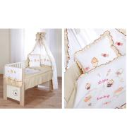 Posteljnina za otroško posteljico Klupś Mali Dojenček 2 (6 delna)