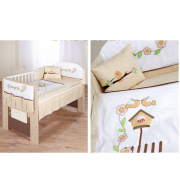 Posteljnina za otroško posteljico Klupś Ptički 2 (6 delna)