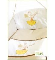 Posteljnina za otroško posteljico Klupś Ladjica (6 delna)
