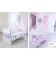 Posteljnina za otroško posteljico Klupś Mali Zajček (6 delna)