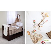 Posteljnina za otroško posteljico Klupś Žirafa (6 delna)