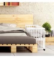 Obposteljna otroška posteljica Klupś Piccolo lesena - bela