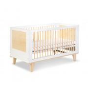 Posteljica za dojenčka Klupś LYDIA bela (140 x 70 cm)