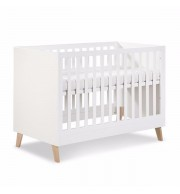 Posteljica za dojenčka Klupś NOAH bela (120 x 60 cm)
