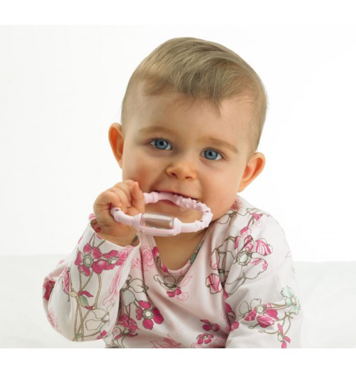 Obroček za žvečenje Curaprox CBR CURA Baby moder