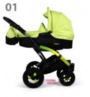 Otroški voziček Tako Laret 2v1 (black)