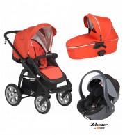 Otroški voziček X-Lander X-Move 3v1 (oranžen)