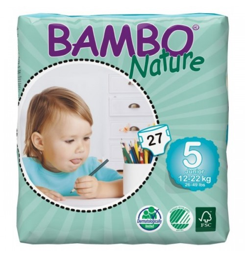 Otroške pleničke BAMBO NATURE JUNIOR 12-22 KG