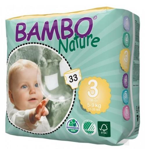 Otroške pleničke BAMBO NATURE MIDI 3 5-9 KG