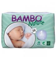 Otroške pleničke BAMBO NATURE NEWBORN 1 2-4 KG
